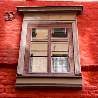 Gros plan, fenêtre, gamla stan, stockholm, suède