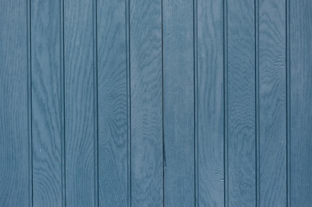 Gros plan de fond en bois de planche bleue
