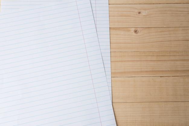 Gros plan, fond papier ligné