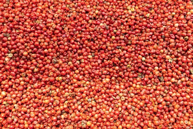 Gros plan sur fond de poivron rouge. vue de dessus