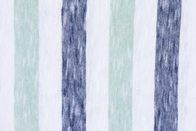 Gros plan de fond textile rayé blanc et bleu