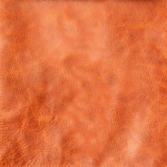 Gros plan sur un fond ou une texture en cuir marron naturel