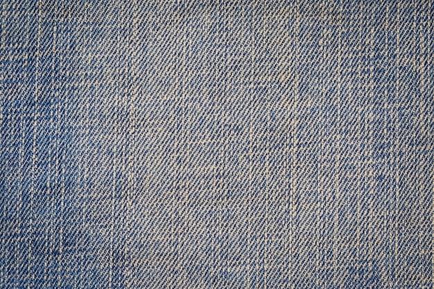 Gros plan de fond de texture jeans bleu