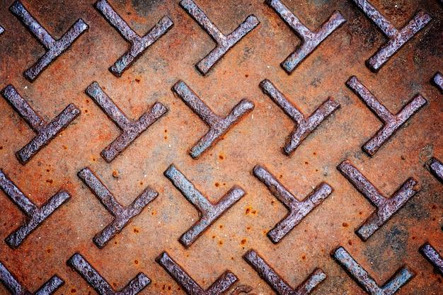 Gros plan de fond texturé en métal rustique