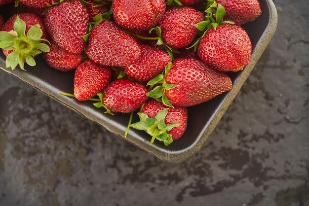 Gros plan, frais, naturel, fraise, fruit