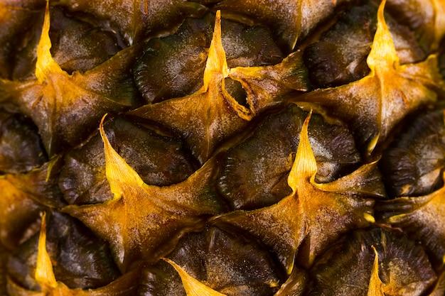 Gros plan de fruits d'ananas. texture de peau de motif ananas.