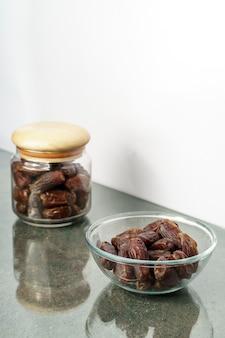 Gros plan de fruits dates