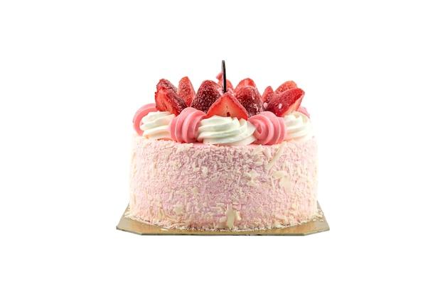 Gros plan d'un gâteau isolé.