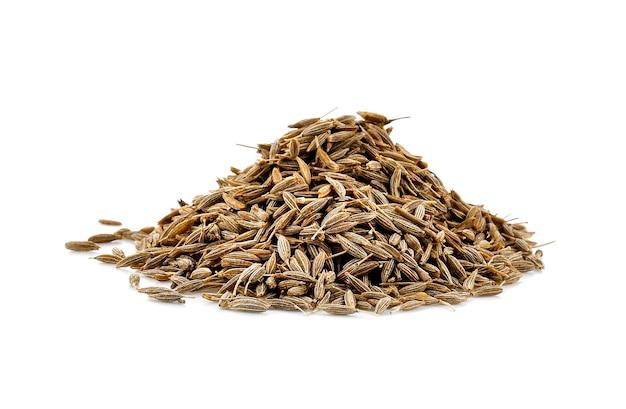 Gros plan de graines de carvi séchées