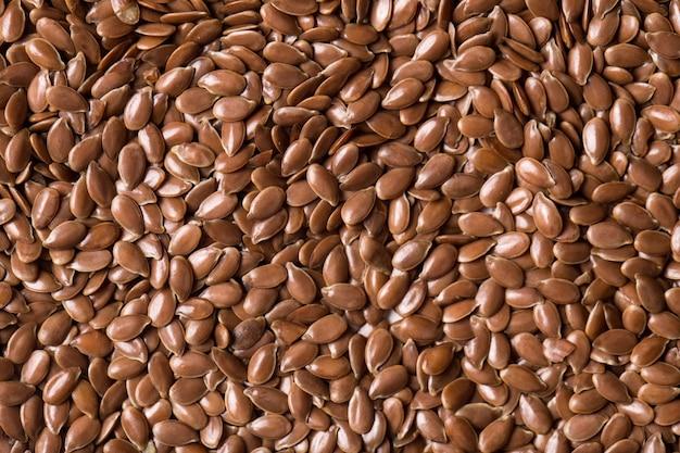 Gros plan de graines de lin. macro de texture de graine de lin