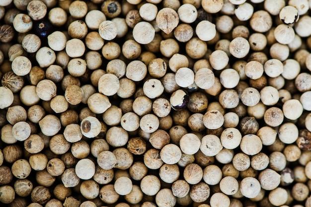 Gros plan de graines de piment