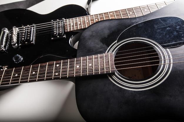 Gros plan guitare électrique