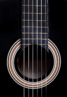 Gros plan, guitare