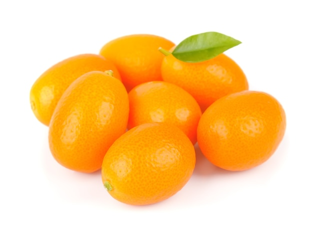 Gros plan de kumquat doux