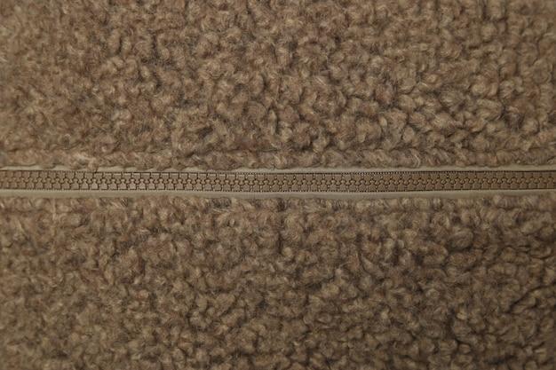 Gros plan de laine de texture brovn, tissu tissé, tissu tricoté