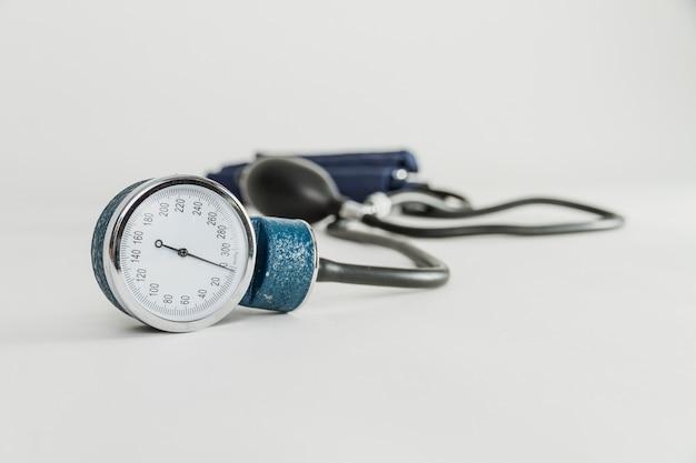 Gros plan de lecture de stethoscope