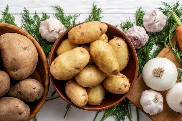 Gros plan des légumes biologiques