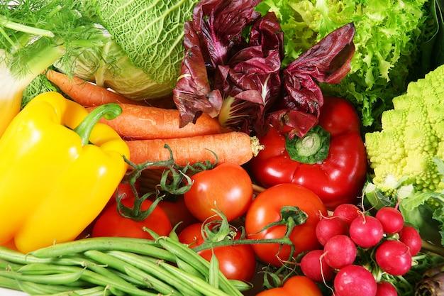 Gros plan de légumes frais