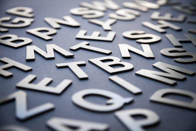 Gros plan de lettres mixtes photo