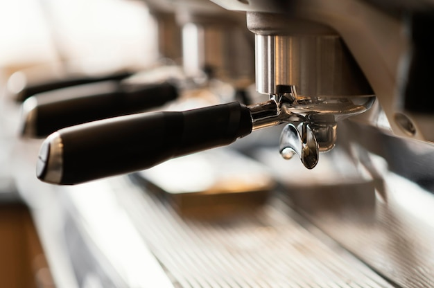 Gros plan machine à café