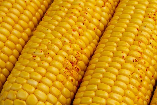 Gros plan, maïs, à, poudre chili
