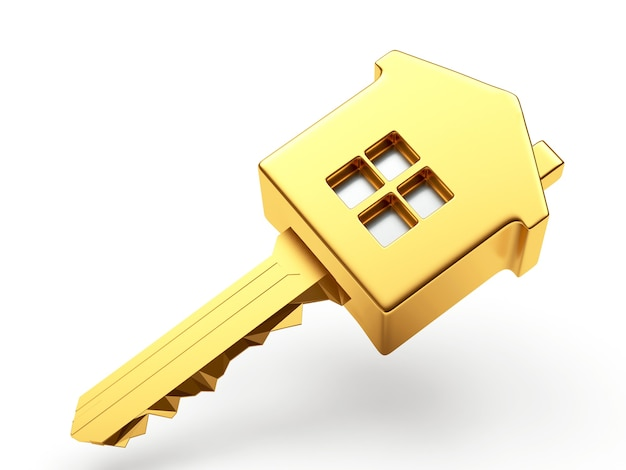 Gros plan de maison clé d'or
