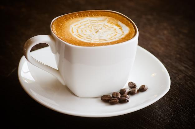 Gros plan, merveilleux, tasse, chaud, café