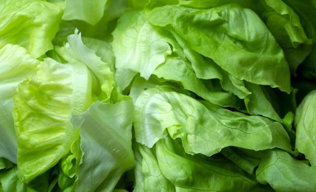 Gros plan de la mise au point sélective des feuilles vertes fraîches fond de légumes de chou, ingrédient préparé pour la cuisson, nourriture saine et propre