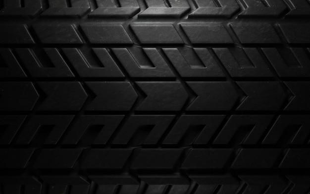 Gros plan de modèle de pneu. rendu 3d