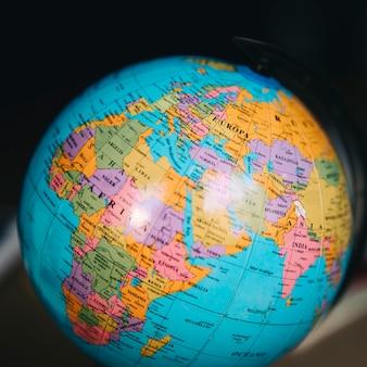 Gros plan, monde, globe