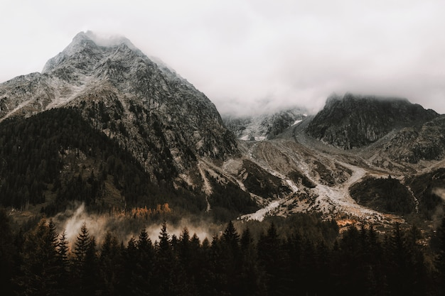 Gros plan, montagnes