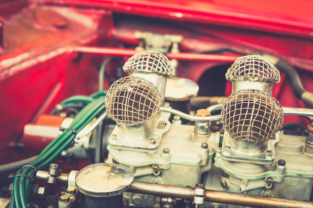 Gros plan d'un moteur vintage