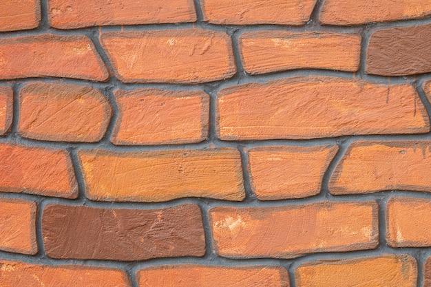 Gros plan motif de briques de surface à fond de mur de briques belle