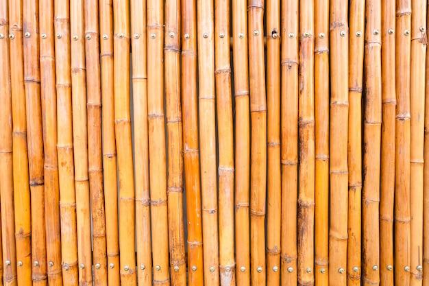 Gros plan d'un mur de clôture de bambou vintage