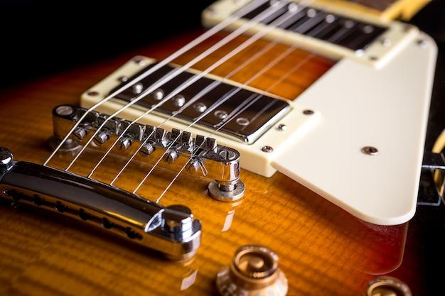 Gros plan, musique, guitare