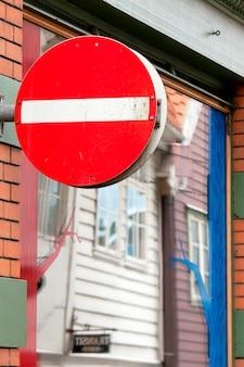 Gros plan, de, a, ne pas entrer, signe, bergen, norvège