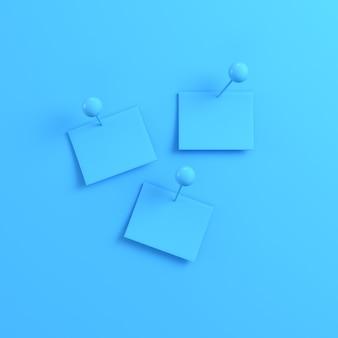 Gros plan sur les notes sur fond bleu clair