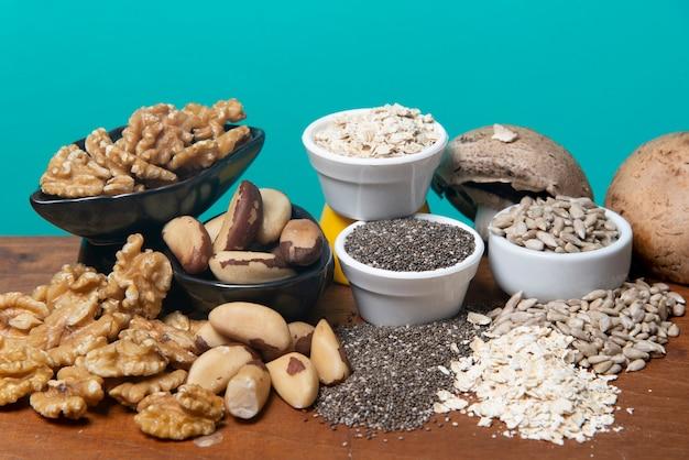Gros plan sur la nourriture comme source de minéraux
