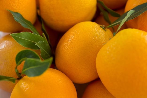 Gros plan, de, oranges, contre, blanc, surface