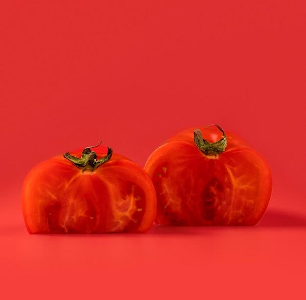 Gros plan, organique, tomates, copie, espace