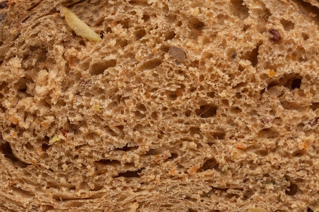 Gros plan, de, pain cuit, pâte