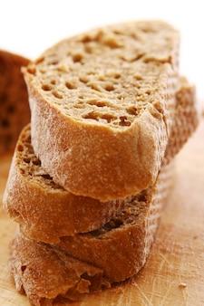 Gros plan de pain de mie