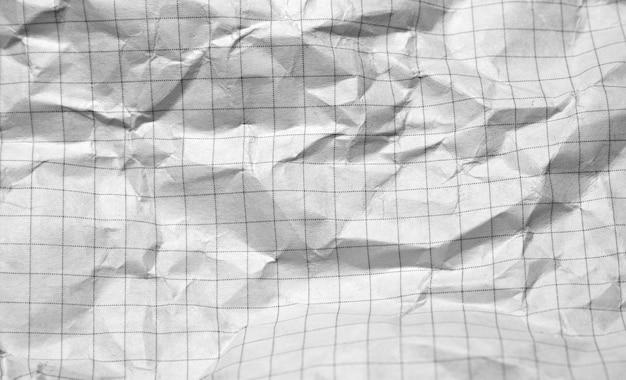 Gros plan de papier froissé