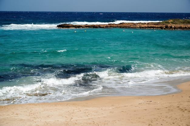 Gros plan paysage du bord de mer