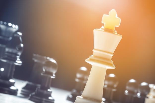 Gros plan pièces d'échecs