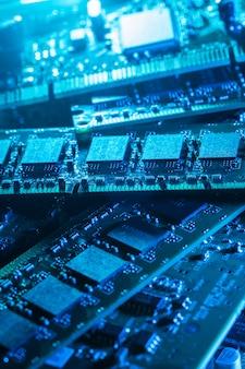 Gros plan de pièces d'ordinateur