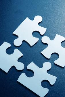 Gros plan, pièces puzzle