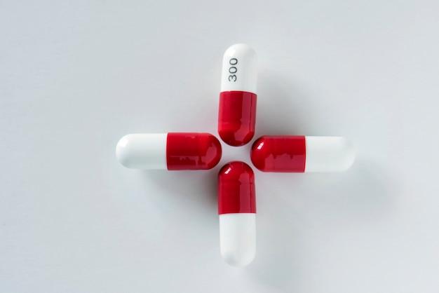 Gros plan de pilules