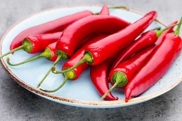 Gros plan de piment rouge frais