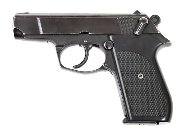 Gros plan pistolet en métal